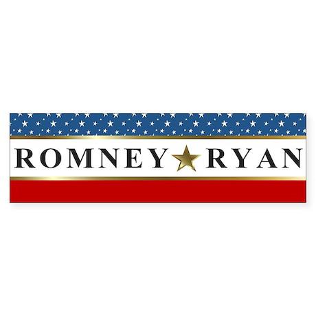 Mitt Romney Paul Ryan Star Sticker (Bumper)