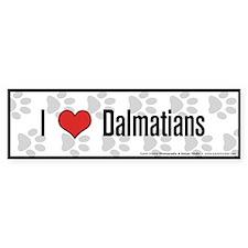 I (heart) Dalmatians Bumper Bumper Sticker