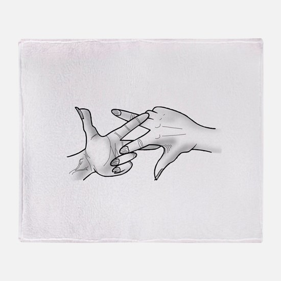 ScissaFingas Logo Throw Blanket