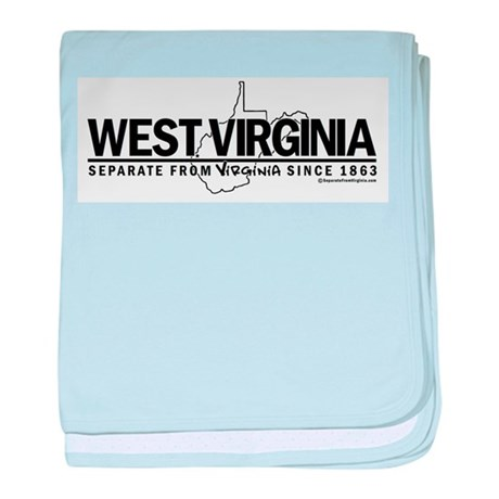 WV: Separate From VA Since 1863 baby blanket