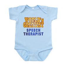 World's Greatest Speech Therapist Infant Bodysuit