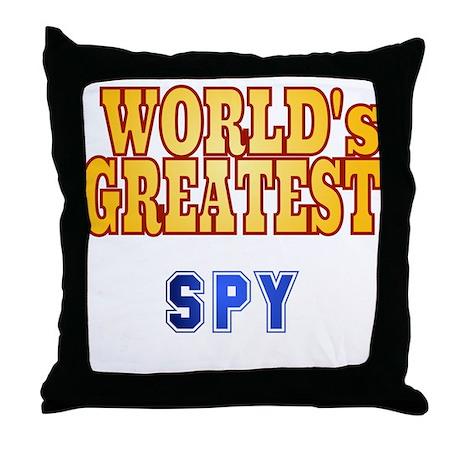 World's Greatest Spy Throw Pillow