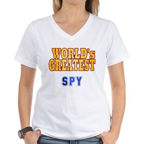 World's Greatest Spy Women's V-Neck T-Shirt