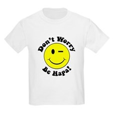 Dont worry Be Hapa! Black T-Shirt