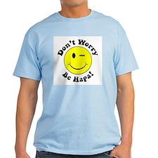 Dont worry Be Hapa! Black T-Shirt