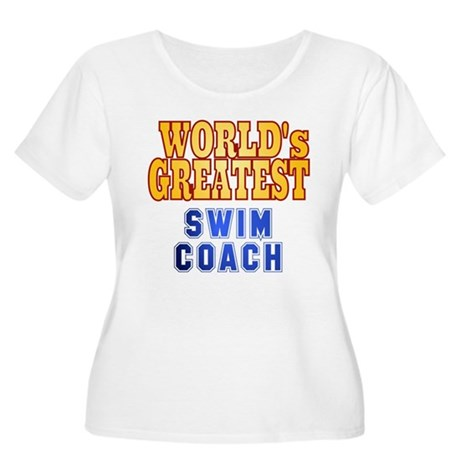 World's Greatest Swim Coach Women's Plus Size Scoo