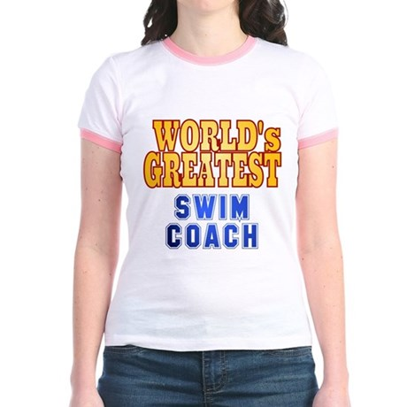 World's Greatest Swim Coach Jr. Ringer T-Shirt