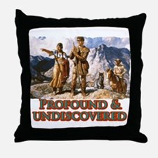 Profound and undiscovered Throw Pillow