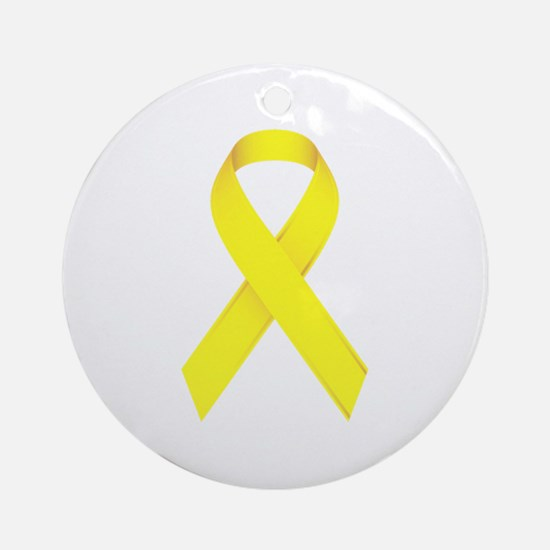 Yellow Ribbon Ornament (Round)