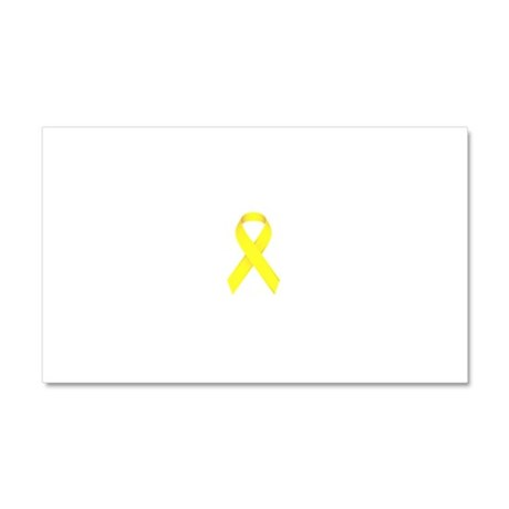 Yellow Ribbon Car Magnet 20 x 12