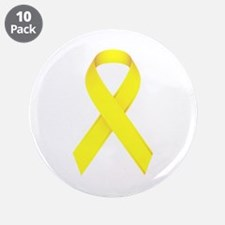 "Yellow Ribbon 3.5"" Button (10 pack)"