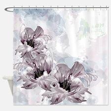 Artistic Flowers Shower Curtain