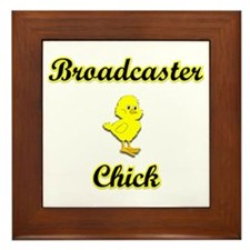 Broadcaster Chick Framed Tile
