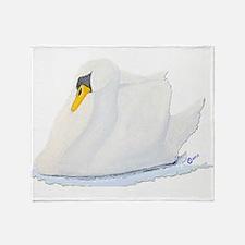 Graceful Swan Throw Blanket