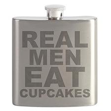 Real Men Eat Cupcakes Flask