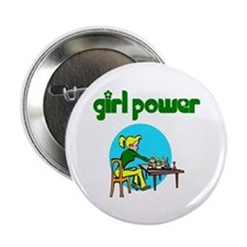 Girl Power Chess Button