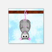 """Blossom the Possum Square Sticker 3"""" x 3"""""""