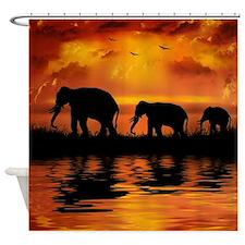 Elephant Safari Shower Curtain