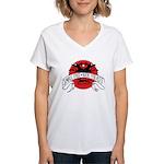 Small Fast Kick Yer Ass Women's V-Neck T-Shirt