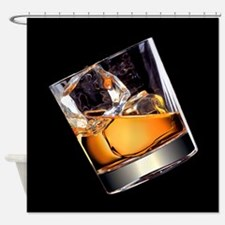 Whisky on the Rocks Shower Curtain
