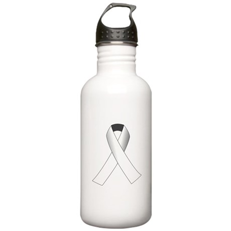 White Ribbon Stainless Water Bottle 1.0L
