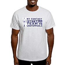 FANTASY FOOTBALL Ash Grey T-Shirt