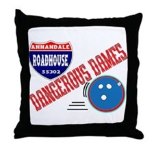 DANGEROUS DAMES Throw Pillow
