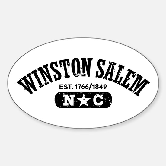 Winston Salem NC Sticker (Oval)