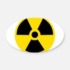 Radioactive Symbol Oval Car Magnet