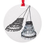 Chandelier with Shadow Round Ornament