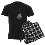 Chandelier with Shadow Men's Dark Pajamas