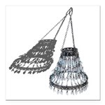 Chandelier with Shadow Square Car Magnet 3