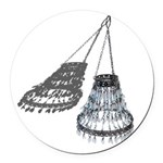 Chandelier with Shadow Round Car Magnet
