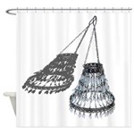 Chandelier with Shadow Shower Curtain