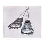 Chandelier with Shadow Throw Blanket
