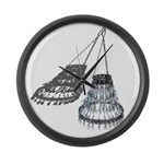 Chandelier with Shadow Large Wall Clock