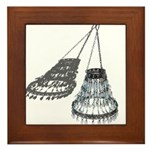 Chandelier with Shadow Framed Tile
