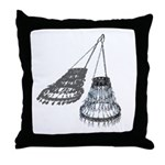 Chandelier with Shadow Throw Pillow