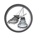 Chandelier with Shadow Wall Clock