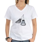 Chandelier with Shadow Women's V-Neck T-Shirt