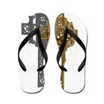 Crucifix on Side Flip Flops