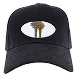 Crucifix on Side Black Cap
