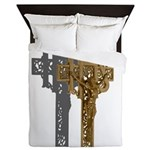 Crucifix on Side Queen Duvet