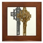 Crucifix on Side Framed Tile