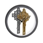Crucifix on Side Wall Clock