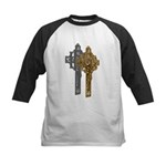 Crucifix on Side Kids Baseball Jersey