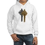 Crucifix on Side Hooded Sweatshirt