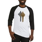 Crucifix on Side Baseball Jersey