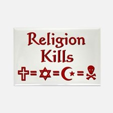 Religion Kills Rectangle Magnet