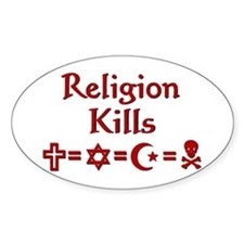 Religion Kills Decal